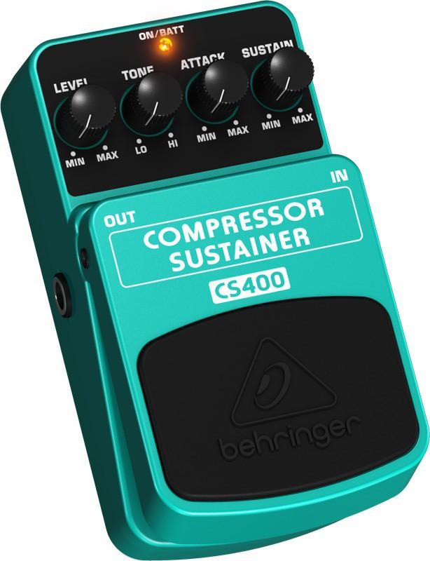 Pedal Behringer Para Guitarra e Contra-Baixo CS400 - Compressor e Sustainer