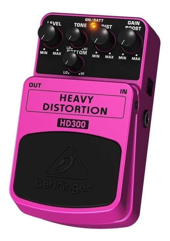 Pedal HD300 Heavy Distortion Behringer Para Guitarra