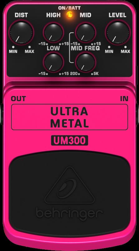 Pedal UM300 Ultra Metal Behringer Para Guitarra
