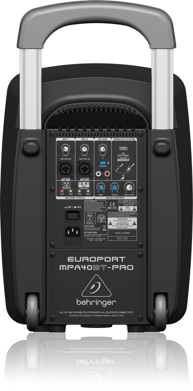 Sistema Ativo PA MPA40BT-PRO Europort Behringer