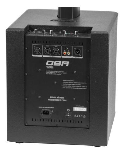 Sistema de Som Profiss. 1500W VA2200 Vertical Array DBR