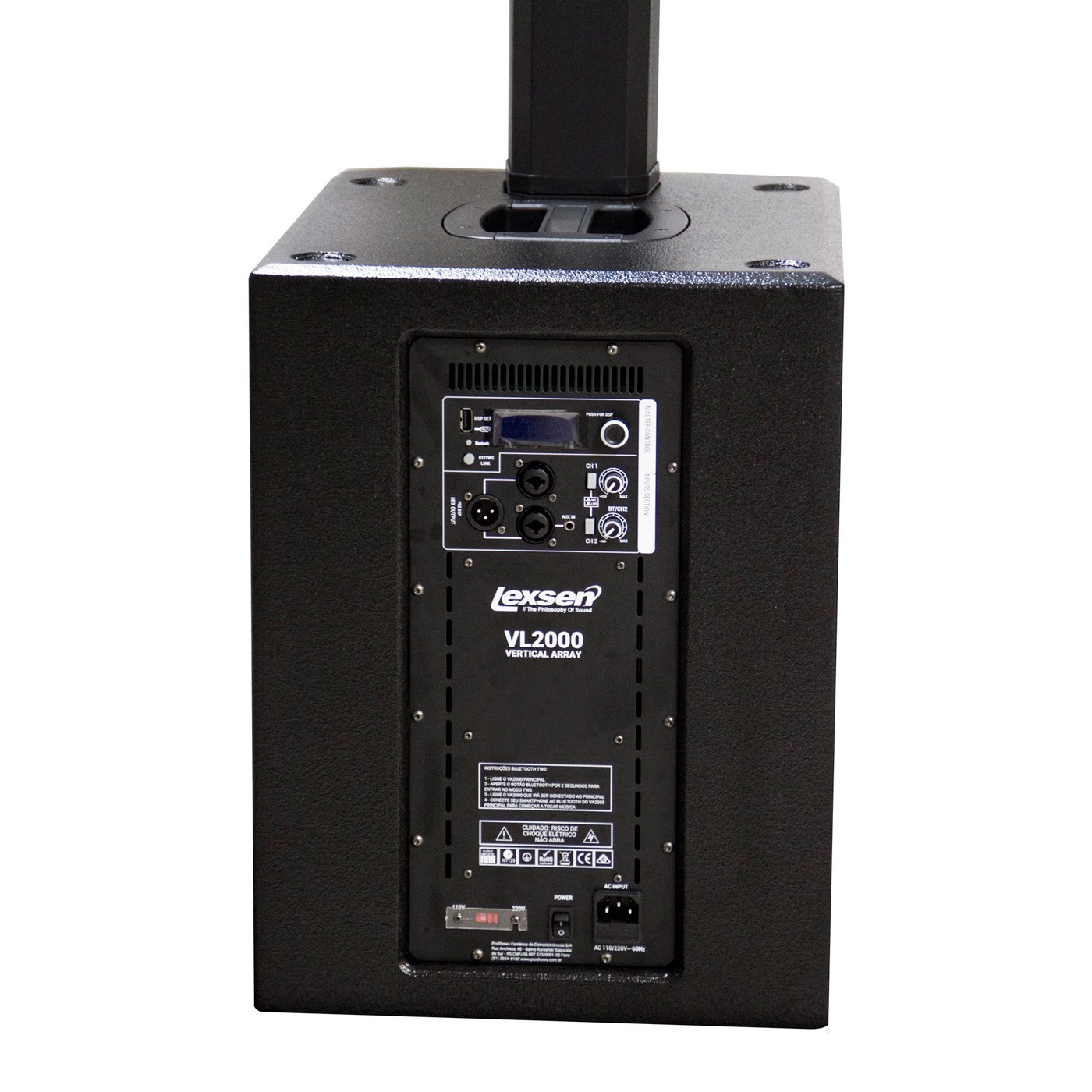 Sistema de Som Profissional 1000W VL2000 Lexsen