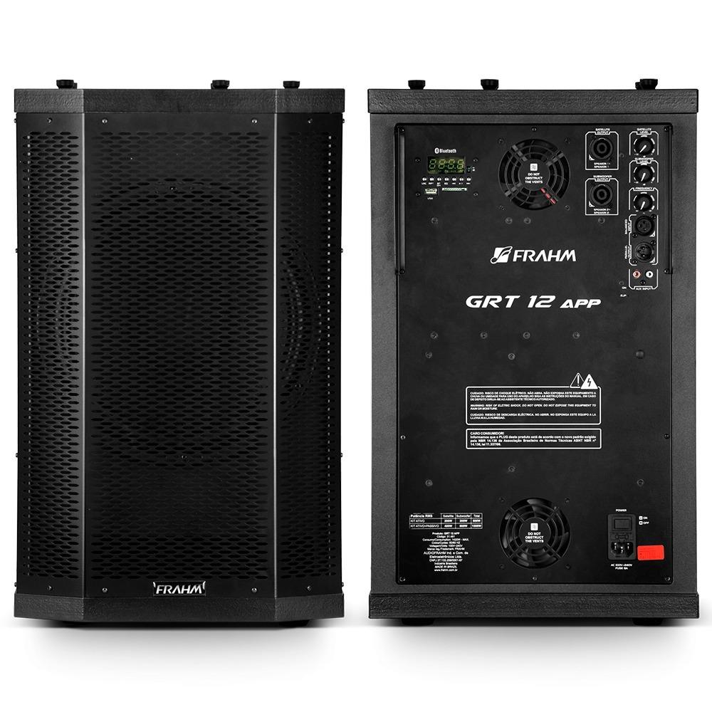 Sistema Vertical Array Ativo + Passivo Frahm GRT 12 - 1000W RMS