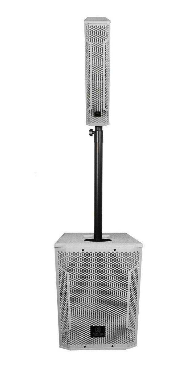 Sistema Vertical Array MakPro MK-Ca4.3sw12.1k Branco 500w Rms