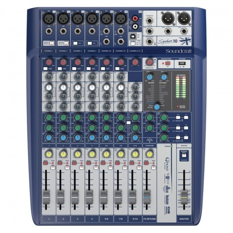 Mesa de Som Soundcraft Signature 10