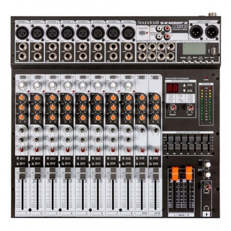 Mesa de Som Soundcraft SX 1202 FX USB