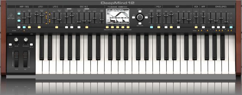 Teclado Sintetizador Behringer DeepMind 12 Vozes Analógico
