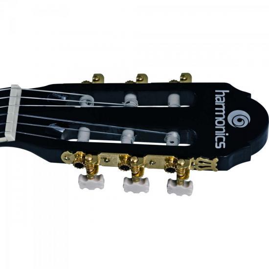 Violão Acústico Clássico Nylon GC-10BK Preto Harmonics