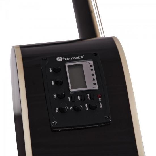 Violão Eletroacústico Aço GE-21 Sunburst Harmonics