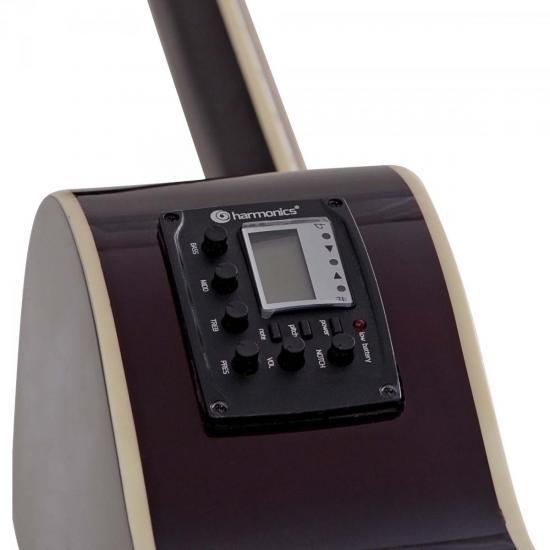 Violão Eletroacústico Clássico Cutaway Aço GE-21 Natural Harmonics