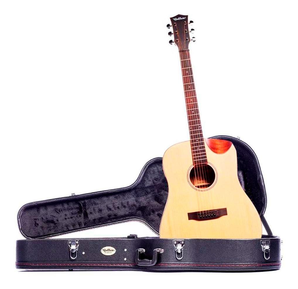 Violão Redburn Rb-100 Eletroacústico Folk Com Hardcase HC41