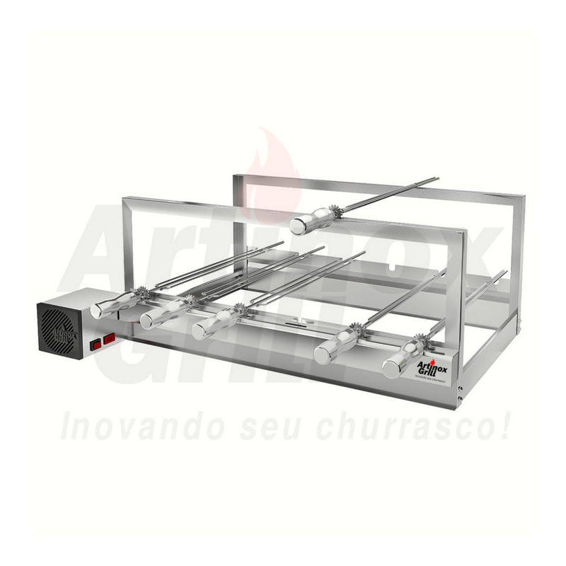 Churrasqueira Elétrica Artinox Griragrill Inox 6 Espetos