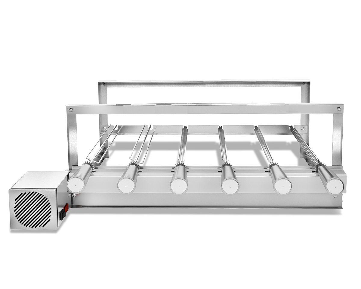 Churrasqueira Gira Grill Inox Elétrica 6 Espetos Robust Bivolt