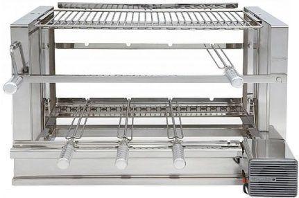 Churrasqueira Elevgrill 704 Prime Inox 304 Polimento Alto Brilho com Motor e 4 Espetos