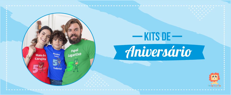 Kits Camisetas de Aniversário