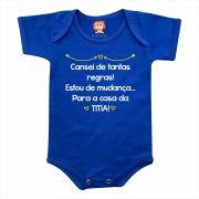 Body de Bebê ou Camiseta Cansei de Regras Vou Para Casa da Titia