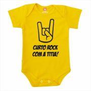 Body de Bebê ou Camiseta Curto Rock A Titia