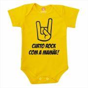 Body de Bebê ou Camiseta Curto Rock Com a Mamãe