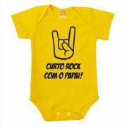 Body de Bebê ou Camiseta Curto Rock Com o Papai