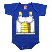 Body De Bebê Ou Camiseta Dragon Ball Vegeta Geek Baby  Fantasia