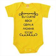 Body de Bebê ou Camiseta Eu Curto Rock Com a Minha Titia