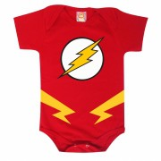 Body de Bebê ou Camiseta Infantil Flash Super Heróis Fantasia