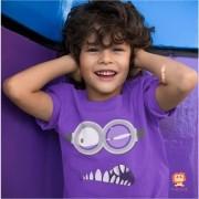 Body de Bebê ou Camiseta Infantil Minions Roxo Malvado