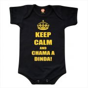 Body de Bebê ou Camiseta Keep Calm And Chama a Dinda
