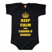 Body de Bebê ou Camiseta Keep Calm And Chama o Dindo