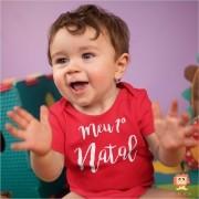 Body de Bebê ou Camiseta Meu Primeiro Natal