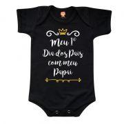 Body de Bebê Primeiro Dia dos Pais Coroa