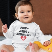 Body de Bebê Quarentena Coração