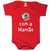 Body ou Camiseta Click com a Mamãe - Dia das Mães