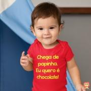 Body ou Camiseta Chega de Papinha