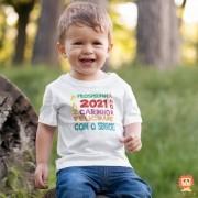 Body ou Camiseta Infantil Ano Novo Cristão 2021 com o Senhor
