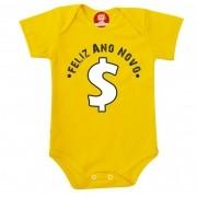 Body ou Camiseta Infantil Feliz Ano Novo Riqueza