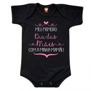 Body ou Camiseta Meu Primeiro Dia das Mães Com a Minha Mamãe - Menina