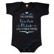 Body ou Camiseta Meu Primeiro Dia das Mães Com a Minha Mamãe - Menino