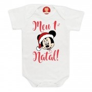 Body ou Camiseta Meu Primeiro Natal Minnie