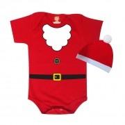 Body ou Camiseta Papai Noel com Gorro