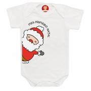 Body ou Camiseta Papai Noel Primeiro Natal