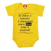 Body ou Camiseta Para Deus Tudo é Possível