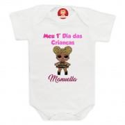 Body ou Camiseta Primeiro Dia das Crianças Boneca LOL