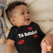 Body ou Camiseta Tô Solteiro Frases Meninos Divertidas
