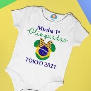 Body Ou Camisetinha Minha Primeira Olimpíadas Minnie