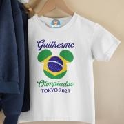 Body Ou Camisetinha Olimpíadas Mickey Personalizada com Nome