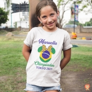 Body Ou Camisetinha Olimpíadas Minnie Personalizada com Nome