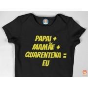 Body Personalizado Bebê na Quarentena
