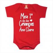 Body Primeiro Dia das Crianças Personalizado com Nome