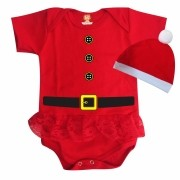 Body Saia de Natal Bebê Noel